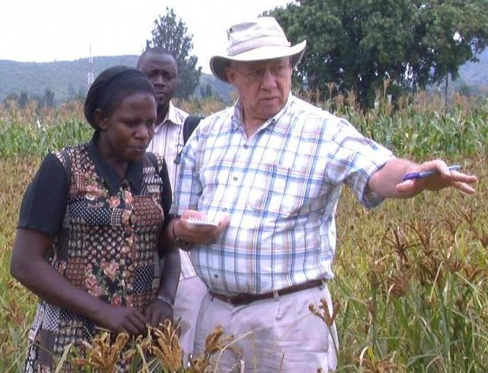 UNL agronomist Charles Wortmann works with grain producers in Uganda.