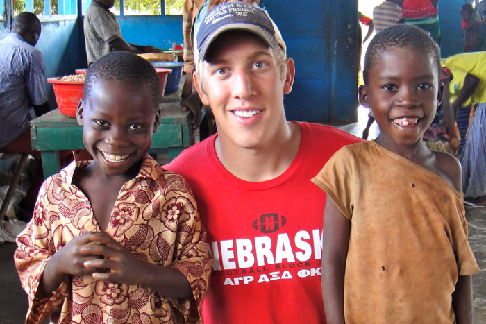 Bryce Vaughan, an agricultural economics and public policy student, interned in Mozambique.